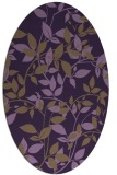 rug #801670 | oval purple natural rug