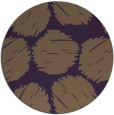 rug #801783 | round mid-brown retro rug
