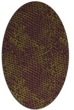 rug #802435 | oval purple natural rug
