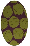rug #802460 | oval purple circles rug