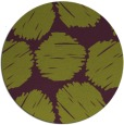 rug #802468 | round green circles rug