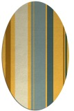 rug #806180 | oval light-orange stripes rug