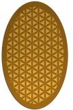 rug #806220 | oval yellow borders rug