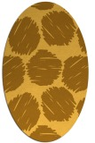 rug #806265 | oval yellow rug