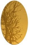 rug #806285 | oval yellow natural rug