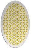 rug #806905 | oval white traditional rug