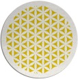 rug #806913 | round yellow traditional rug
