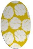 rug #806950 | oval yellow circles rug