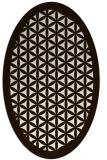 rug #807590 | oval brown rug