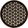 rug #807598 | round brown rug