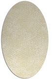 rug #808295 | oval yellow animal rug