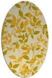 rug #808900 | oval yellow natural rug