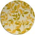 rug #808908   round yellow natural rug