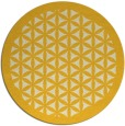 rug #808968 | round yellow borders rug