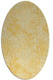 rug #808980 | oval yellow animal rug