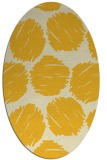 rug #809005 | oval yellow circles rug