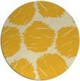 rug #809013 | round yellow circles rug