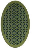 rug #810165 | oval green borders rug