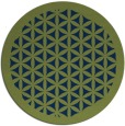 rug #810173 | round blue traditional rug
