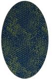 rug #810185 | oval blue animal rug