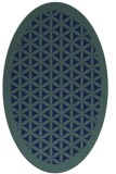 rug #810850 | oval blue borders rug
