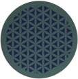 rug #810858 | round blue borders rug