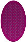 rug #811537 | oval geometry rug
