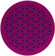 rug #811543 | round pink rug