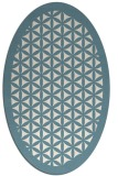 rug #812220 | oval white traditional rug