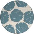 rug #812273 | round white popular rug