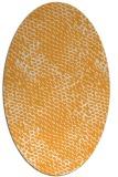 rug #812925 | oval light-orange animal rug