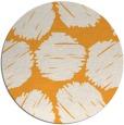 rug #812958 | round light-orange circles rug