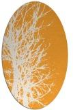 rug #812970 | oval white natural rug