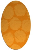 rug #813635   oval light-orange circles rug