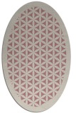 rug #814275   oval pink borders rug