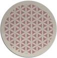 rug #814283 | round pink borders rug