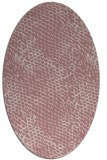 rug #814295   oval pink animal rug