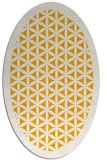 rug #814960 | oval light-orange borders rug