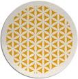 rug #814968 | round light-orange traditional rug