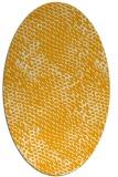 rug #814980 | oval light-orange animal rug