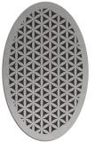 rug #815645   oval red-orange borders rug