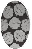 rug #815690 | oval red-orange graphic rug