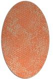 rug #816350   oval orange animal rug