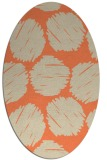 rug #816375   oval orange circles rug