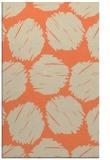 rug #816379 |  orange circles rug