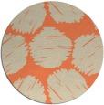 rug #816383 | round orange circles rug