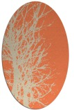 rug #816395 | oval orange natural rug