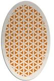 rug #817015 | oval orange rug