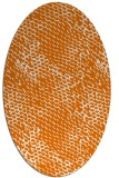 rug #817035 | oval orange natural rug