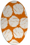 rug #817060 | oval orange graphic rug
